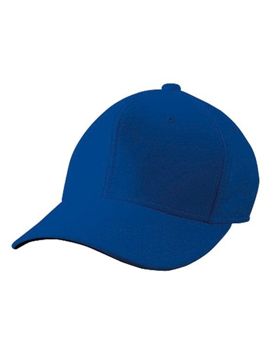 六方型ベースボールキャップ ロイヤルブルー